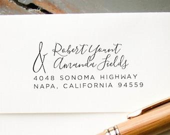Custom Address Stamp, Calligraphy Wedding Address Stamp, Self Inking Return Address Stamp, Wedding Address Stamp, Custom Address Stamp