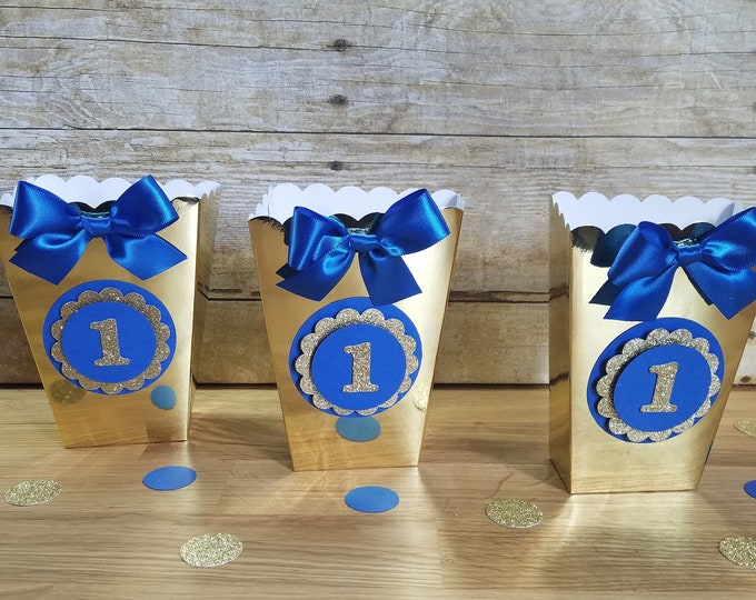Mini Popcorn box,  First birthday party favor,Number 1 popcorn box  ( This Price Is For A Single Box )