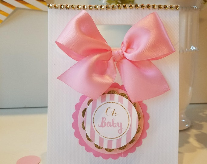 Pink and gold Baby Shower ,Princess Baby shower Favor, Baby shower favor Bags,Royalty baby shower, This Price Is For A Single Bag!!