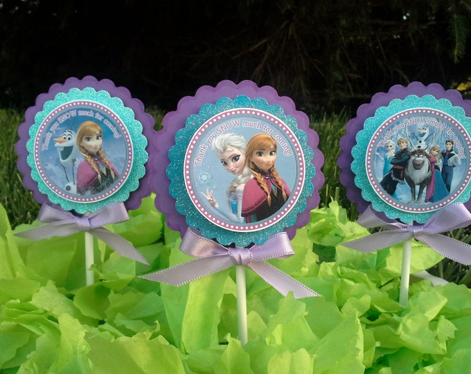 Frozen (Inspired)  cupcake toppers!! This Price is For A single Cupcake topper!!