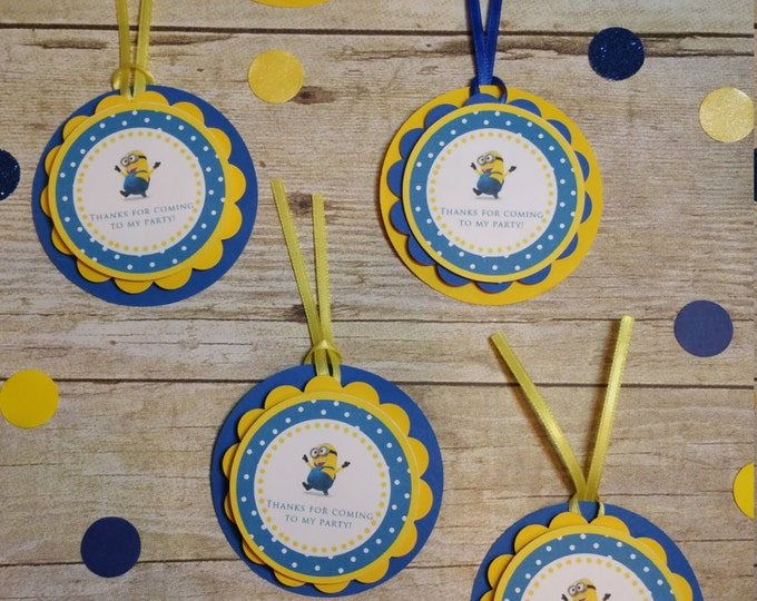 Minions (Inspired)cupcake toppers !!!Despicable me (Inspired) party favors This Price is For A Single Cupcake Topper!!