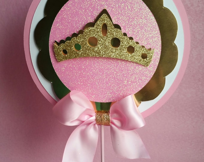 Pink and gold party centerpiece stick, princess party favor decorations!!