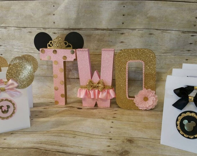 Mickey Mouse  (Inspired) treat bags  Princess Party Favor, Crown Treat Bags