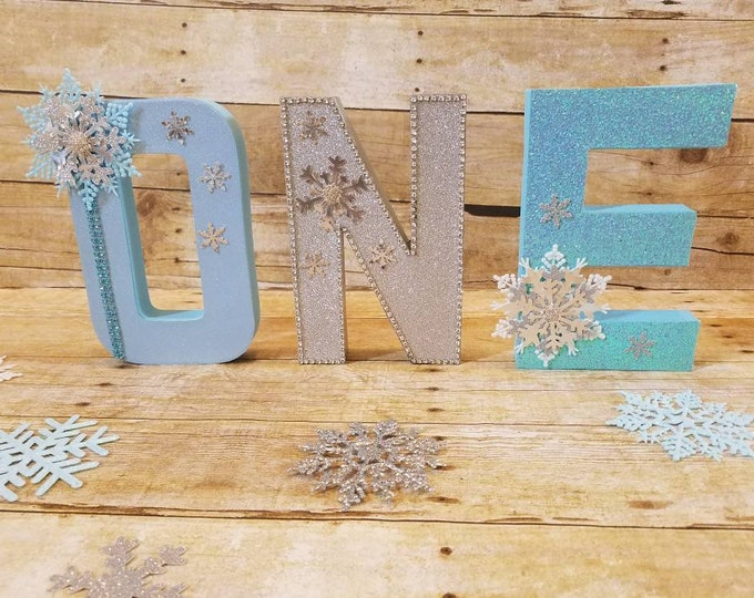 Wonderland party,One letters Winter party,Wonderland Letters ,Snowflake baby shower, Onederland party  , Winter and 1st Birthday Party,