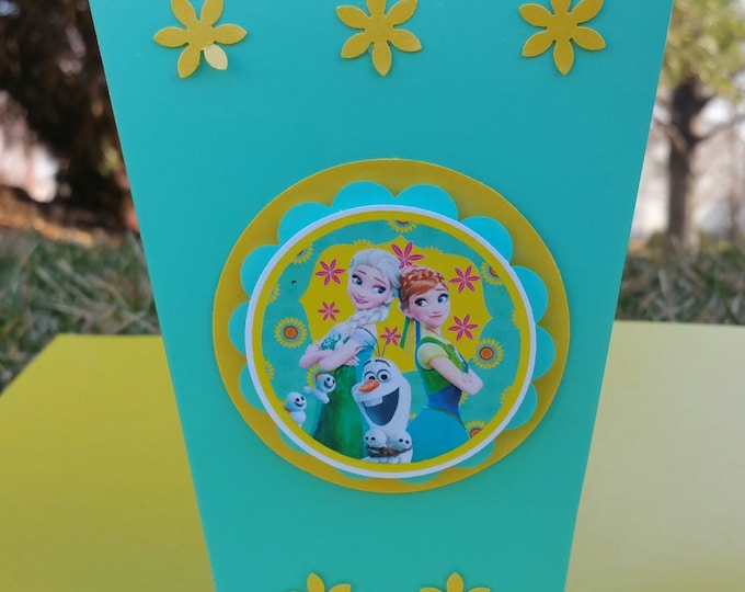 Frozen fever (Inspired) Mini popcorn box , Elsa  party favor, frozen (Inspired) party box!! This Price Is For A Single Box!!