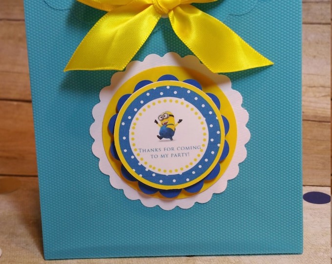 Minions Inspired bags party favor, Minions party decoration, Despicable me treat bags..This Price Is For A Single Bag!!