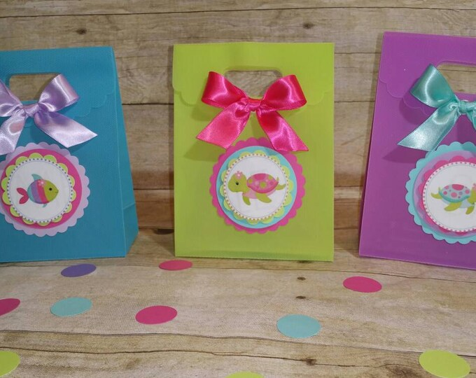 Under the sea party favors, Under the party  treat bags,This Price is for A Single Bag!!