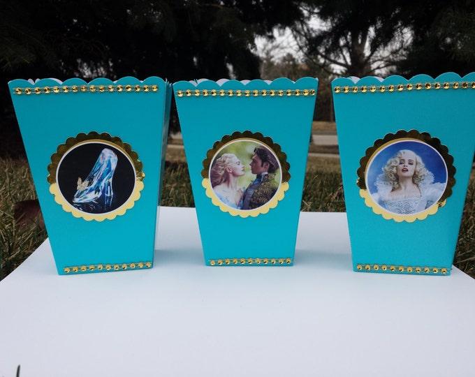 Cinderella Mini popcorn box , Cinderella  party favor!! This price is For A Single Box!!