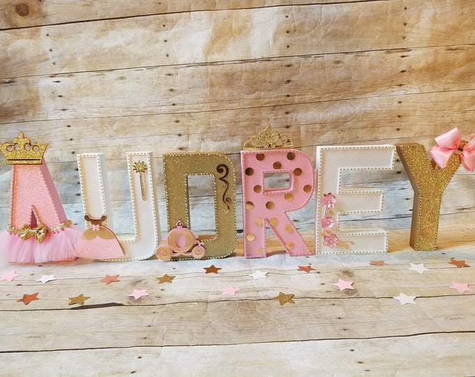Pink and gold Party,Princess gold letters,Princess letters decoration,Princess party, Royalty party decor,This price is For A Single Letter!
