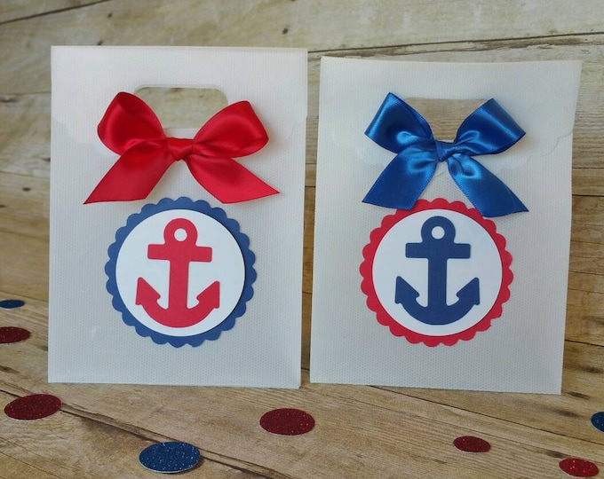Nautical favor bags, Nautical (Inspired) Party Favor,Anchor theme (inspired) This Price Is For A Single Bag!!