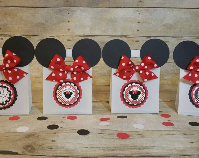 Minnie Mouse (Inspired) bags!! Minnie Mouse (Inspired) Party favors, Minnie Mouse Favor Bags ( This Price Is For 1 Bag )