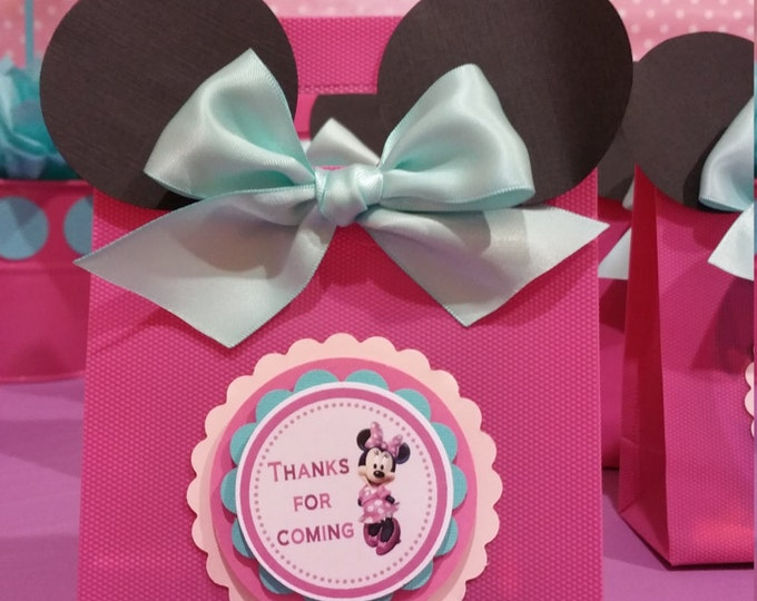 Minnie Mouse (Inspired) bags!! Minnie Mouse(inspired) Party favors,Minnie Mouse Favor Bags.. This Price Is For A Single Bag!!