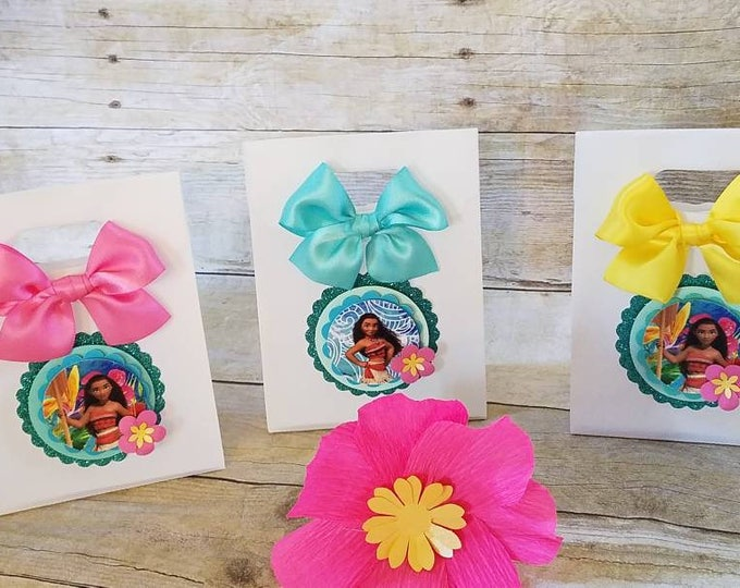 Moana (inspired)  favor bags ,Princess Moana (inspired) party favors,  (This Price Is For a single Bag)