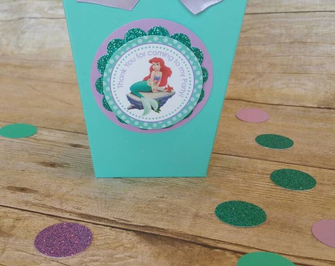 Little Mermaid and Friends(Inspired)Mini popcorn boxes,Ariel and Friends(Inspired)party favors Little mermaid This price is For A Single Bag