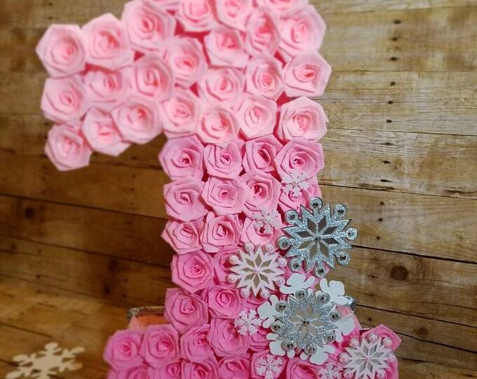 Wonderland pinata,Winter party,Snowflake pinata,Winter 1st Birthday,  Number 1 pinata, Onederland pinata....