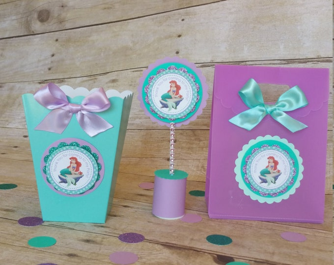 Mermaid (Inspired) treat bags , Ariel (Inspired)party favors.. This Price Is For A Single Bag!!
