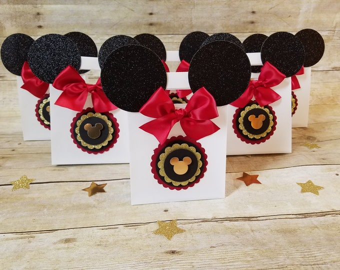 Mickey Mouse (Inspired) bags!! Mickey Mouse (Inspired) Party favors, Mickey Mouse Favor Bags ( This Price Is For A Single Bag )