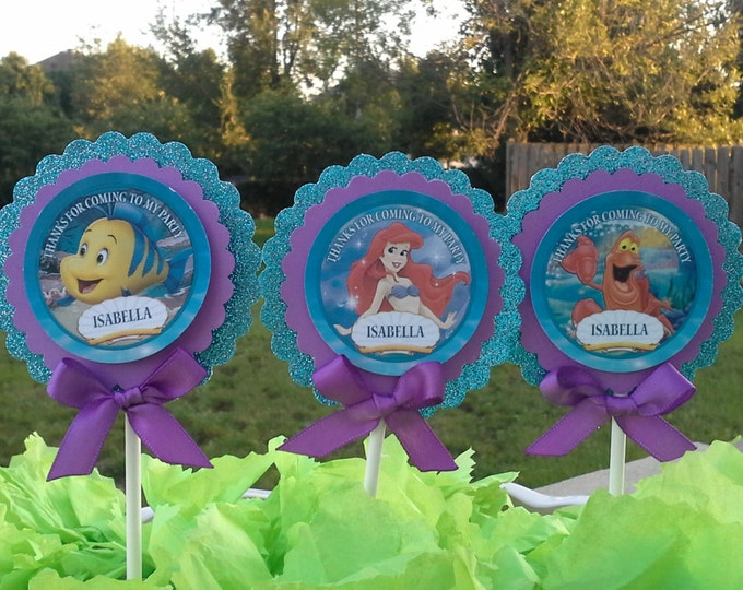 Little Mermaid Cupcakes to personalized Friends, Ariel adn Friends party favors