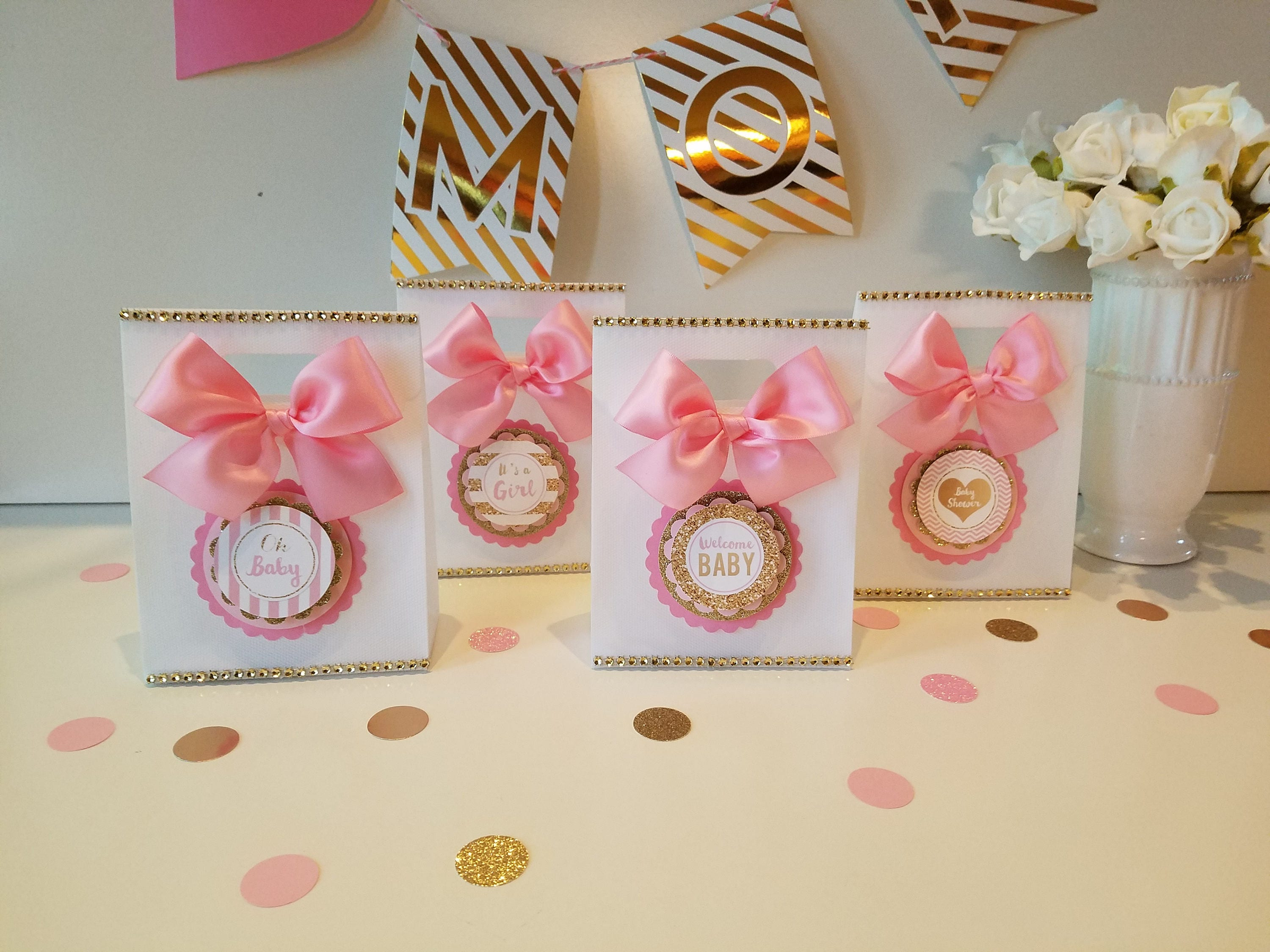 Pink and gold Baby Shower Princess Baby shower Favor Baby