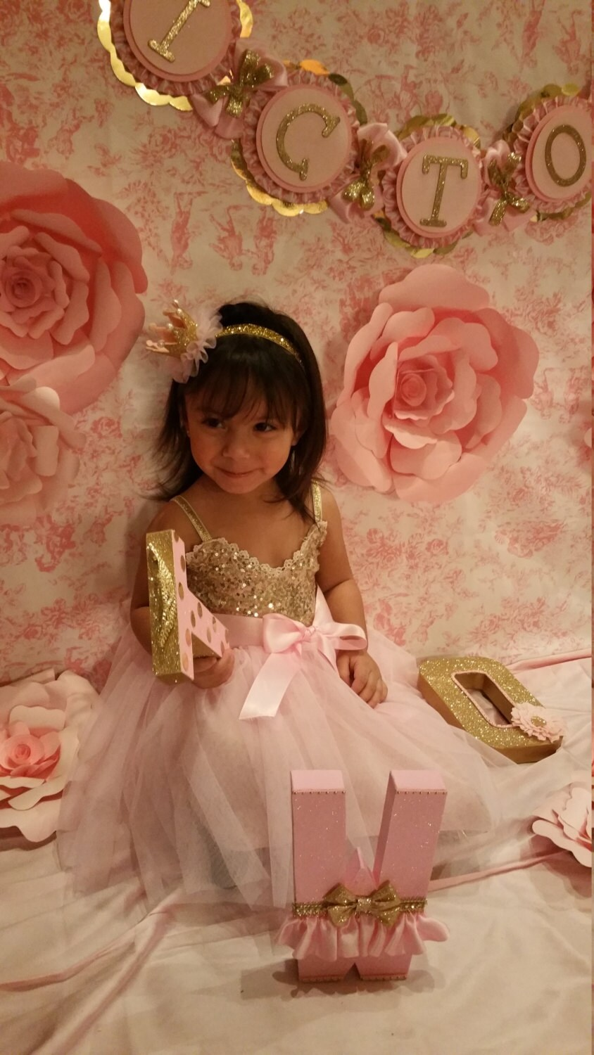 aff199a6a994 Pink and gold dress, Gold dress, Flower Girl dress, sequin and pink ...
