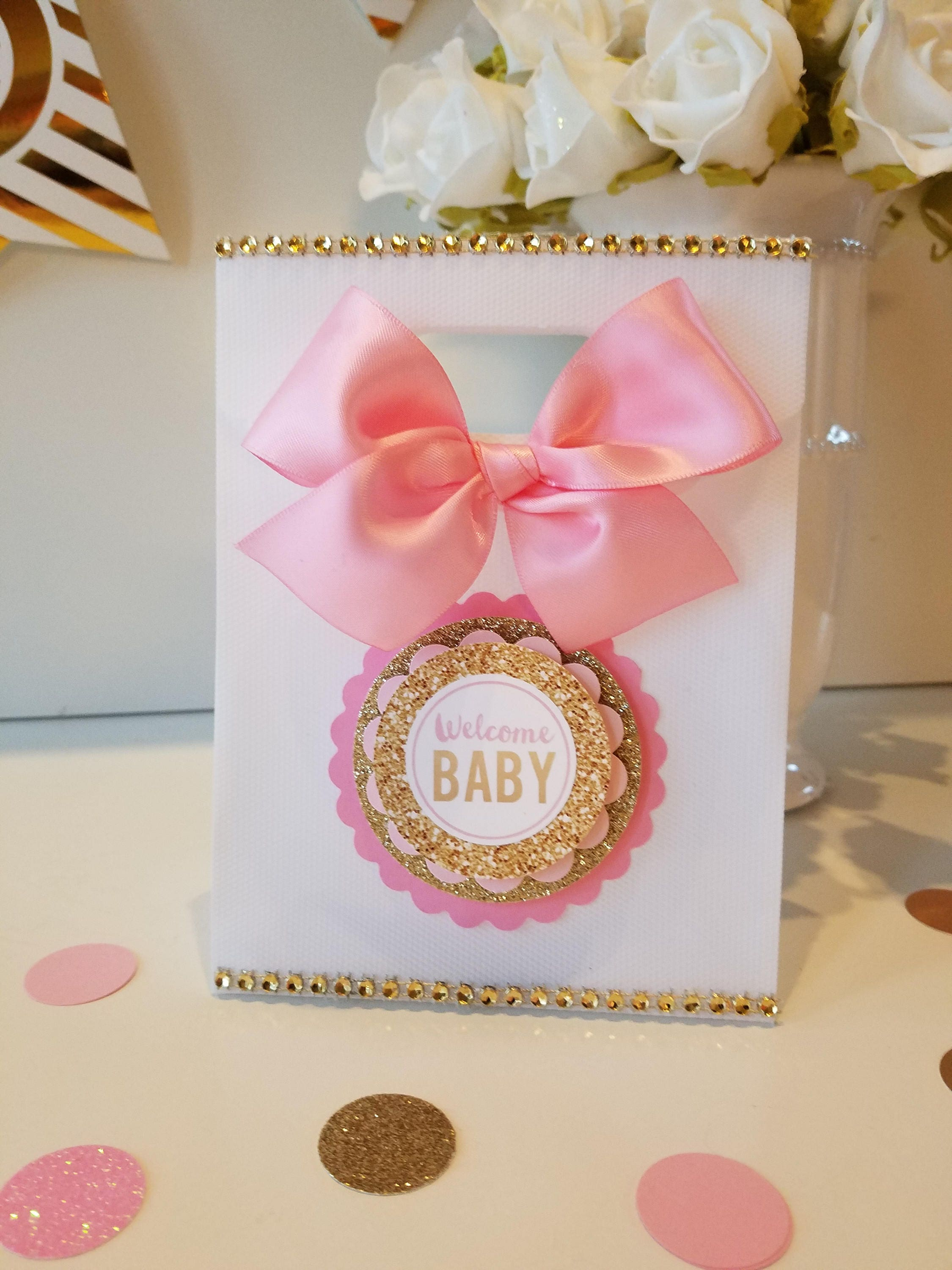 Pink and gold Baby Shower ,Princess Baby shower Favor, Baby shower ...