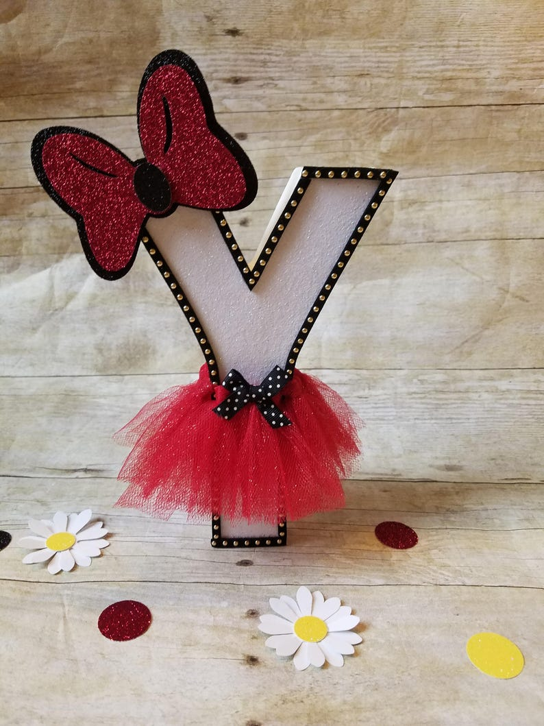Minnie Mouse Party,Mickey mouse party,Minnie letters decorations,Mickey letters,This price is For A Single Letter!!
