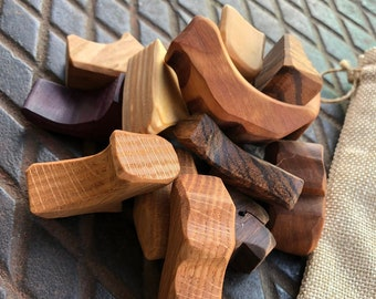 MuseFire (un)Blocks - Handcrafted Repurposed Wood Toy and Tool for balance, focus, stacking, and play