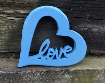 Open hearted Love art - Handcrafted with drill and scroll saw - finished by hand - Made by MuseFire Art -for a baby's room or an accent wall