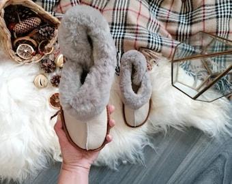 Sheepskin Slippers Boots by HomieeStudio