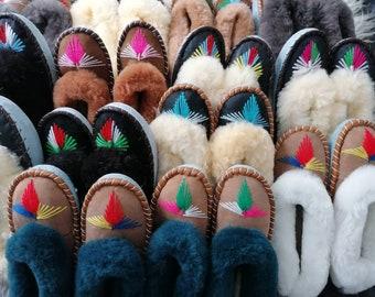 SECONDS Sheepskin Moccasin Slippers