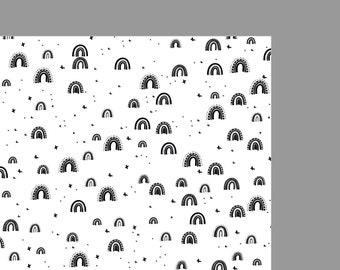 Gift wrapping >> rainbow black/white
