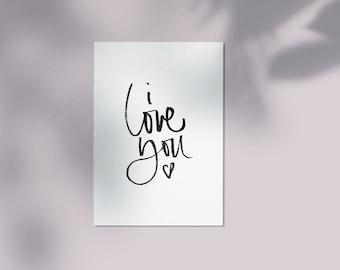 Postcard >> i love you