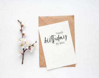 Postcard >> Happy birthday