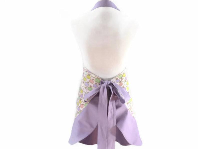 Personalized Apron for Woman Womens Plus Size Purple Apples Apron Bridal Shower Gift Apples Lover Gift Fruit Apron Apples Kitchen Apron