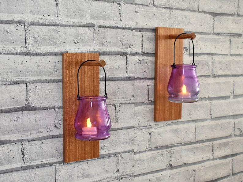 Parete vaso o candela titolare decorazione della parete etsy