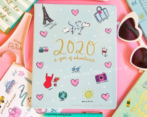 ON SALE - DLC 2020 12 Month Planner with cute icons