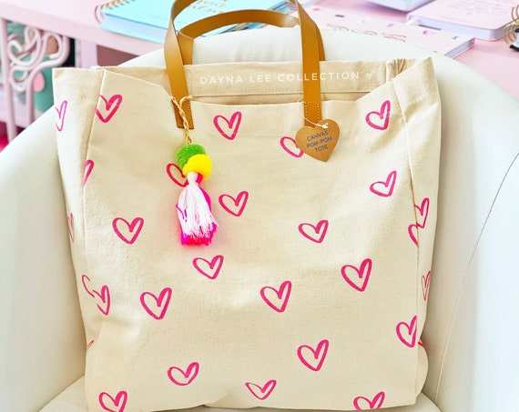 DLC Heart Pattern Tote Bag