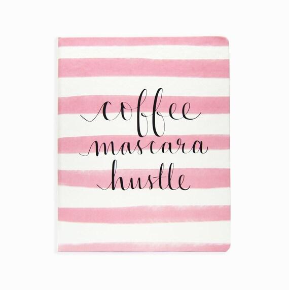 DLC 8x10 Coffee Mascara Hustle Journal