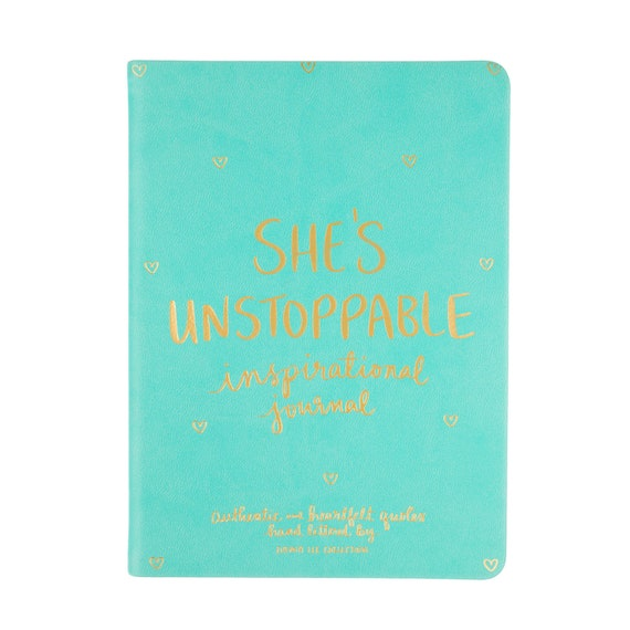 She's Unstoppable mini 5x7 journal with DLC art on every second page