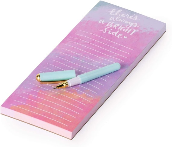 DLC 4x10 Magnetic Notepad and Pen - Bright Side