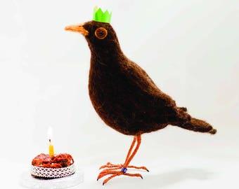 Blackbird's Birthday - Greetings Card