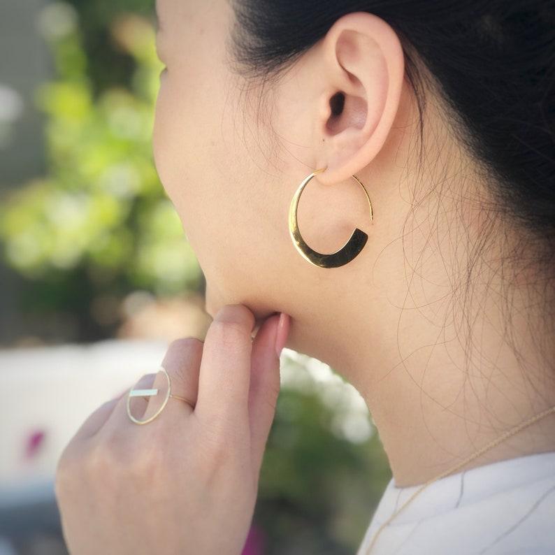 Simple Hoop Earrings in Sterling Silver Jamber Jewels