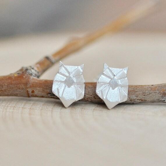 Origami Owl Earrings In Sterling Silver 925 Silver Owl Etsy