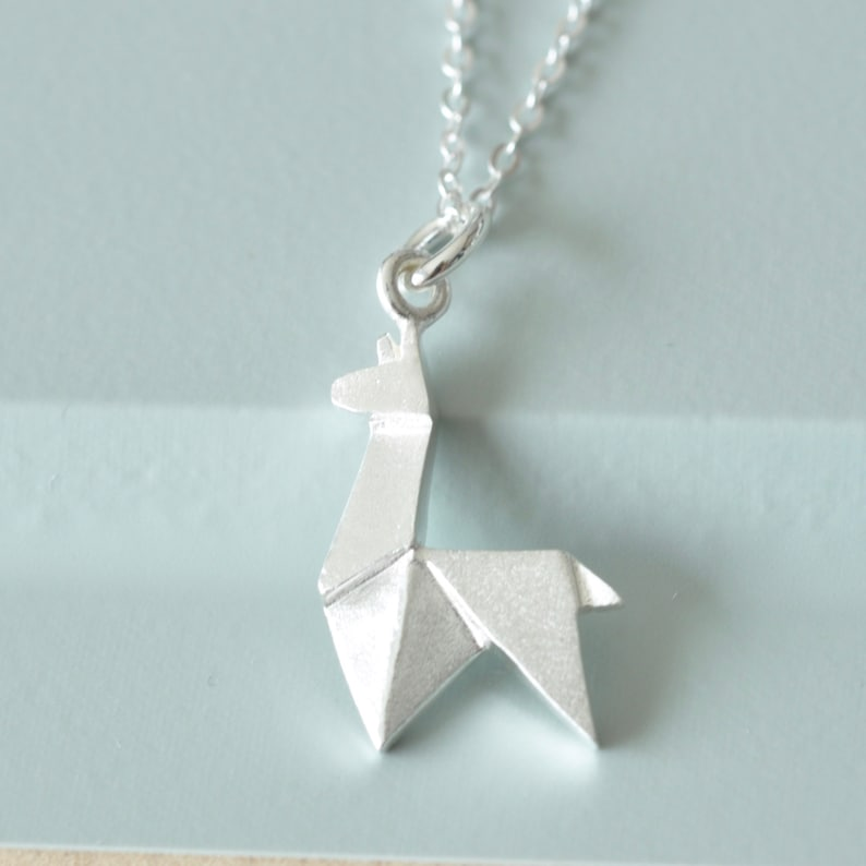 24. Origami Llama Necklace in Sterling Silver