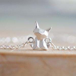 Origami Fox Earrings in Sterling Silver 925 Jamber Jewels