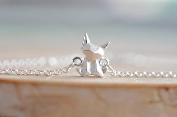 Origami Cat Charm Bracelet