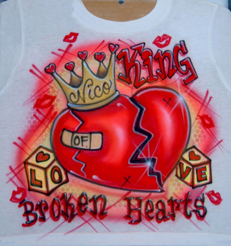 20232149ea5bbc Airbrush King Of Broken Hearts Crown Prince Custom Airbrushed