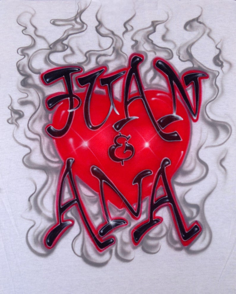 bd4be28e Airbrush Where There's Smoke There's Love Couple Names   Etsy