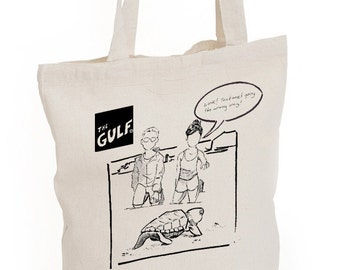 The Gulf Tote Bag: Turtle Watch