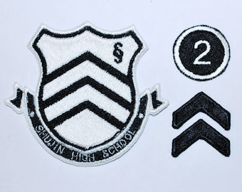 Persona 5 Shujin High School Academy Emblem Badge Premade Anime Game Cosplay Costume Patch
